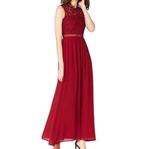 Lace Trim Bridesmaid Maxi Dress